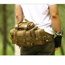 Men's bags military travel 1680 d nylon big Waist pack inclined shoulder bag multi-purpose super SLR camera pocket female bag