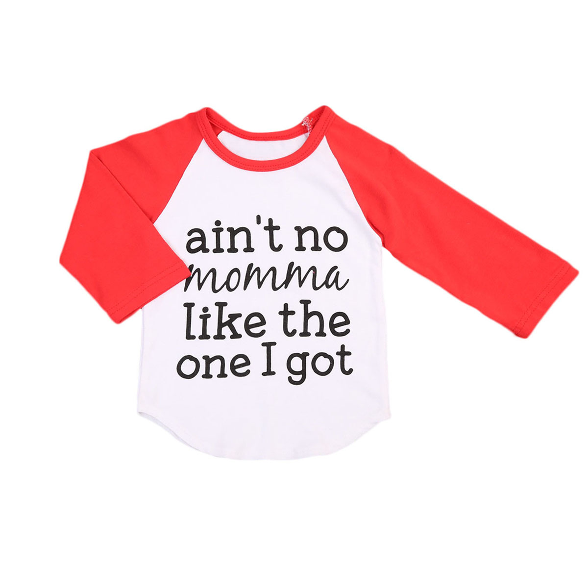 New Fashion T-shirts Newborn Infant Kids Baby Boy Tops Cotton Long Sleeve Letter Print Infant Boys Loose Clothes T-shirt Tops