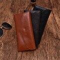 Negocios Hombres Carteras de Alta Calidad de Marca Bolso De Cuero Genuino Mujeres Largas de Cuero Masculino Embrague Billetera Carteira masculina