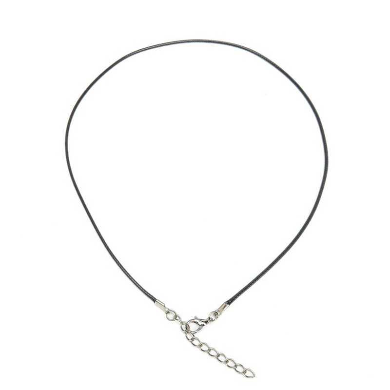 1 Sztuk 3mm Skręcone Liny Plecionej Black/Brown Leather Cord Naszyjnik Łańcuch Srebrny Zapięcie Liny Ciąg Dla Kobiet