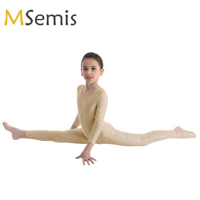 364158e33689 New Kids Girls Ballet Leotard Ballerina Winter Long Sleeves Ballet Dance Gymnastics  Leotard for Girls Jumpsuit