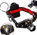 Brilhantes 4 Modos CREE Q5 600 Lumen LED Farol Camping Lâmpada de cabeça Com Zoom Foco Holofotes Portátil Para Caça AAA Livre grátis