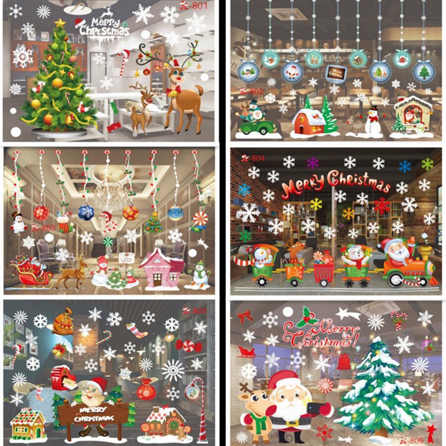 Us 128 Elektrostatyczne Post Kolor Może Usunąć Okno Szklane Ozdoby świąteczne Dekoracje Na Boże Narodzenie Kreatywne Produkty świąteczne W Wiszące