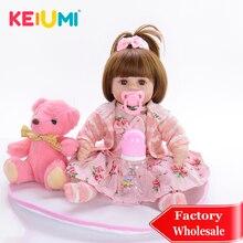 """KEIUMI Reborn Baby Doll горячая Распродажа кукла для девочек Мягкая кукла для тела для детей 1"""" 45 см Boneca DIY подарок для детей"""