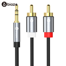 Biaze 1.5M Audio Cable 3.5mm to 2 RCA Cable 3.5mm Jack RCA A