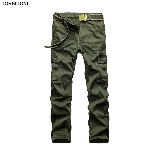 9c68a7e5cdf Men Cotton Tactical Pants Military Cargo Pants Spring Autumn Army Combat  Cargo Pant Casual Soldier Train