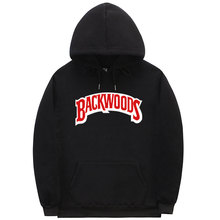 La filetage manchette Hoodies Streetwear Backwoods sweat à capuche hommes mode automne hiver Hip Hop pull à capuche(China)