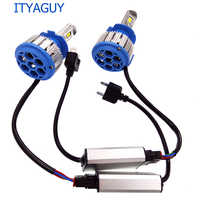 2pcs New Plug&Play T1 Led Car Headlight H1 H3 H4 H7 H8 H9 H11 9004 9005 9006 880 881 DR L Day*time Running Light canbus lamp