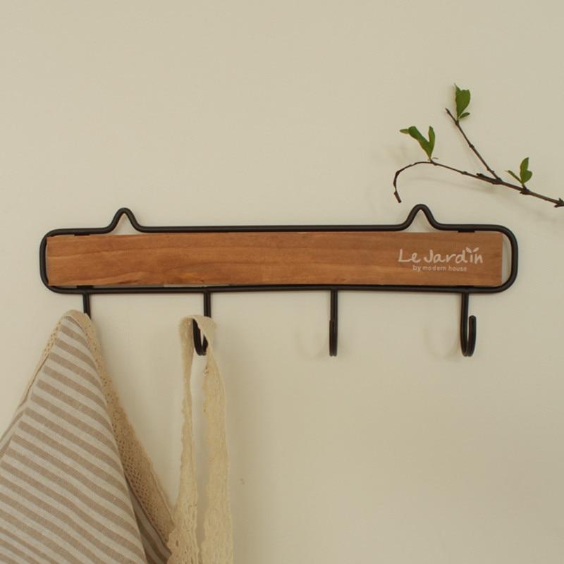 Pinjeas Wall Hook Wood Coat Hanger For Entrance Bathroom Towel Key Modern Style Home Decor