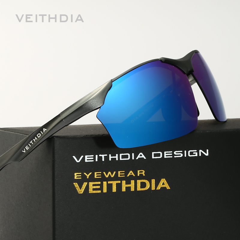 ef4291df2f387b Veithdia aluminium et de magnésium polarisées hommes lunettes de soleil  pilote miroir lunettes de soleil homme
