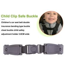 Durable Black Car Baby Safety Seat Strap Belt Harness Chest Child Clip Safe Buckle 1pc
