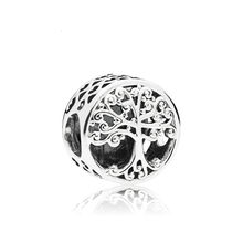 "5PCS Bijoux ""Family is Where Love Grows"" Jewellery Tree Of Life Round Heart Bead For Jewelry Making DIY Pandora Charm Bracelet(China)"