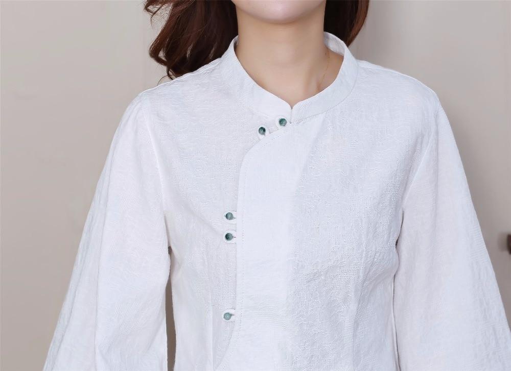 Alta M White Blusa Tops Lino A Algodón Tres Blanco Del L white Calidad Cuarto Camisa 2706 Xxl Xl Mujeres B Otoño Imprimir Flor Xxxl rCwzRrxq