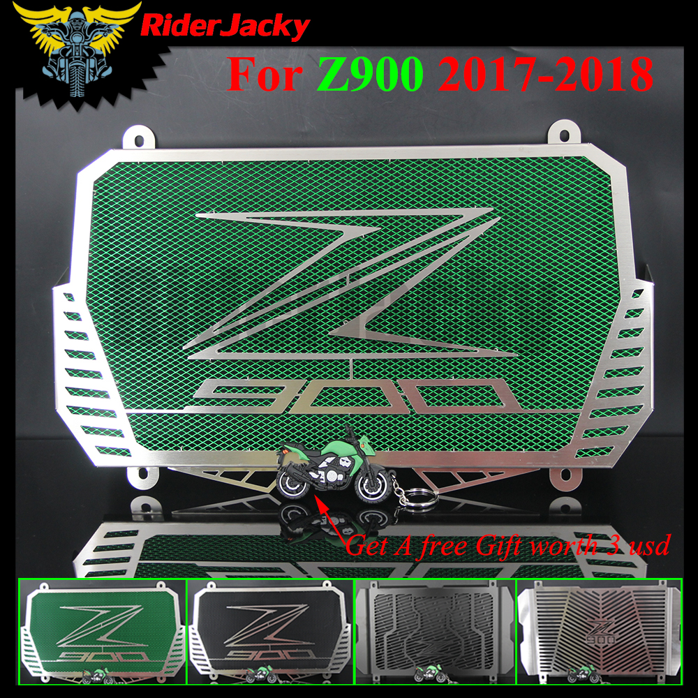RiderJacky For Kawasaki Z900 Z 900 2017 2018 Motorcycle Radiator Guard Stainless Steel Cover Protector Guard(4 Type Choices) цена