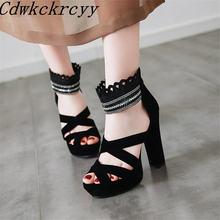Босоножки женские на очень высоком каблуке модные сандалии с