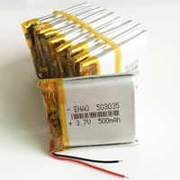 Wholesale 10 pcs 3.7V 500mAh 503035 Lithium Polymer LiPo Rechargeable Battery For Mp3 Mp4 PAD DVD DIY E-book bluetooth