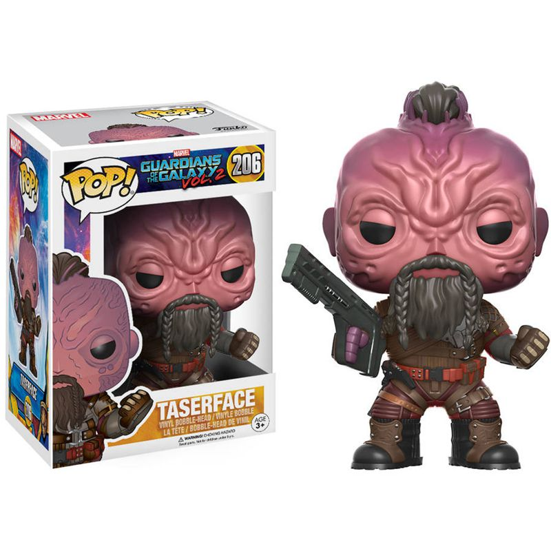 Official <font><b>FUNKO</b></font> POP Marvel: <font><b>Guardians</b></font> <font><b>of</b></font> <font><b>the</b></font> <font><b>Galaxy</b></font> 2 - Taser Face Vinyl <font><b>Action</b></font> <font><b>Figure</b></font> Collectible Toy <font><b>with</b></font> Original box