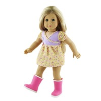 Hot Sale American Girl Doll Clothes Of Lovely Flower Pattern Doll Dress For 18 American Girl