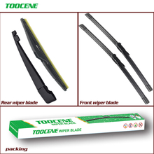 Front & Rear Wiper Blades For Citroen C4 Hatchback 2004-2010  Window Windscreen Windshield Car Accessories 28+24 R+12