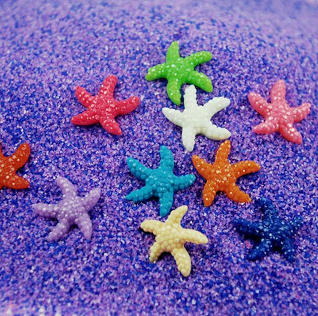 10pcs High Quality Random Fish Aquarium Resin Starfish Multicolor Decoration Ornaments New Tank Decor Cute Miniature Home Garden