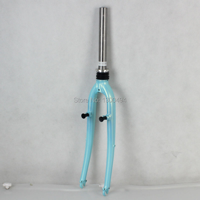 700C shock absorber front fork   road bicycle fork  Touring bicycle fork  Aluminum front fork d01 aluminum alloy bicycle front fork washer blue 28 6mm