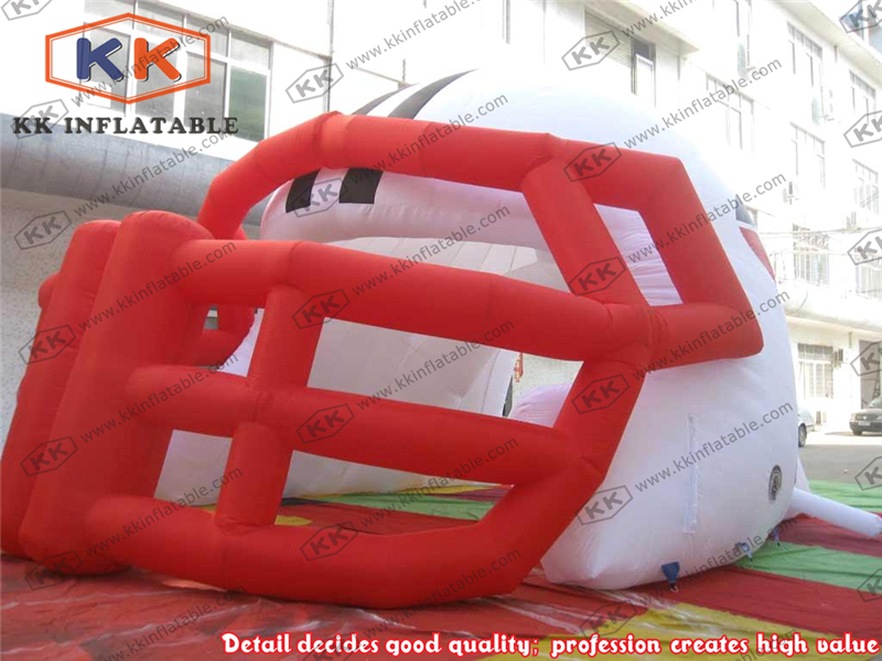 Custom Inflatable Football Helmet Tunnel Tent For Event Sport