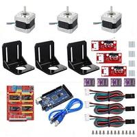 3D printer kit with CNC V3 Shield +Mega 2560 + RAMPS 1.4 Mechanical Switch Endstop + DRV8825 Stepper Motor+Nema 17 Stepper Motor