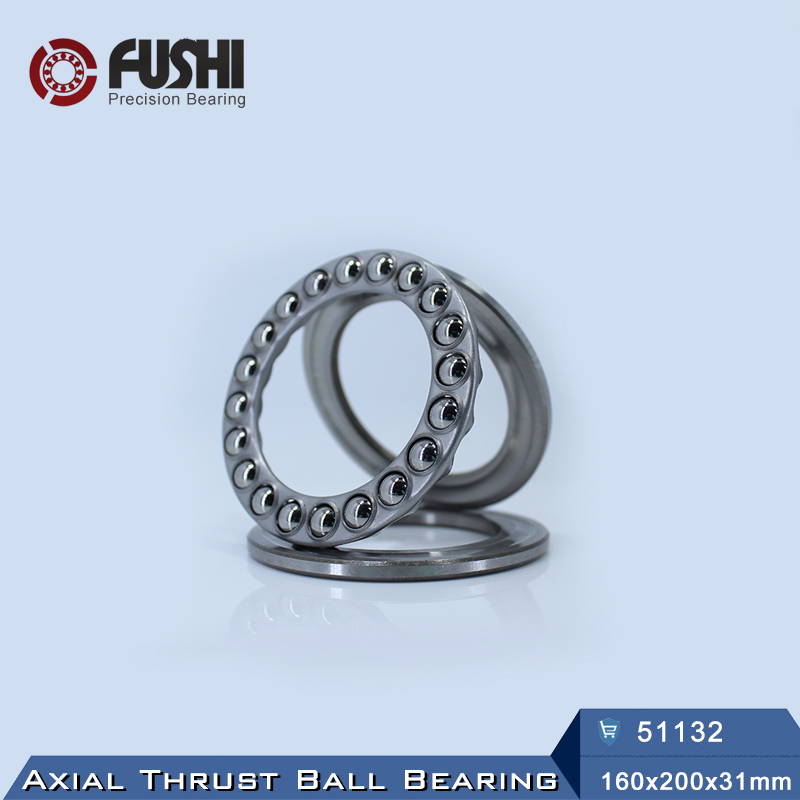 цена на 51132 Thrust Bearing 160*200*31 mm ( 1 PC ) ABEC-1 Axial 51132 Ball Bearings 8132