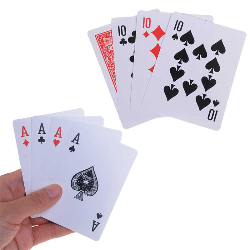 Alta qualidade 1 conjunto (4 pces cartão) truques de magia do transformador 10 a um cartão adereços mágicos 10 mudar um conjuntos de magia fechar-se cartão de rua