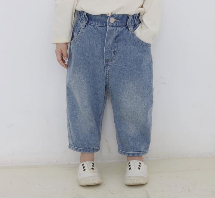 2019 new arrival girls  boys  denim pants autumn  fashion kids jean pants 1-7t HU581(China)