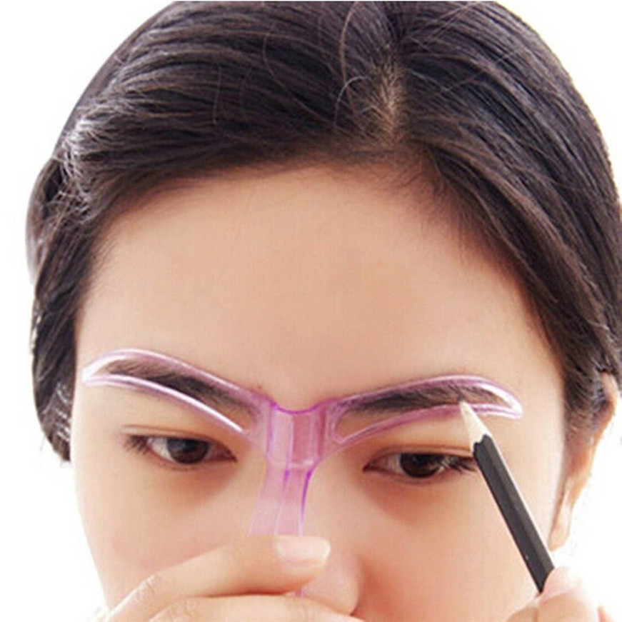 Eyebrow Stencils Professional Beauty Tool Makeup Grooming Drawing Blacken Eyebrow Template Random Color Eyebrow Stencils eyebrow grooming kit