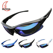 MOON Polarized Cycling Sunglasses Outdoor Sports Bicycle Glasses Bike Cycling Eyewear Goggles Sun Glassese 5 Lens 3 Colors