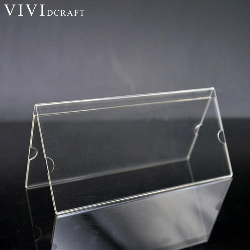 Desk Accessories & Organizer Sweet-Tempered Acrylic Transparent Desk Sign Holder Photo Card Display Stand Table Menu Label Frame Office Club Business Restaurant Money Holde Card Holder & Note Holder