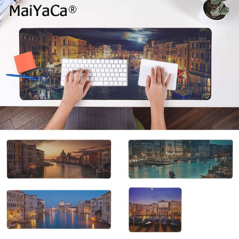 Yinuoda Venice Italy Night Keyboard Gaming MousePads Size for 30x90cm and 40x90cm Gaming Mousepads