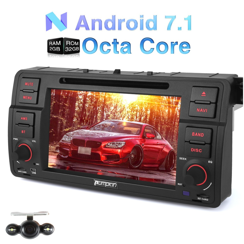 pumpkin 2 din 7 39 39 android 7 1 car dvd player gps. Black Bedroom Furniture Sets. Home Design Ideas