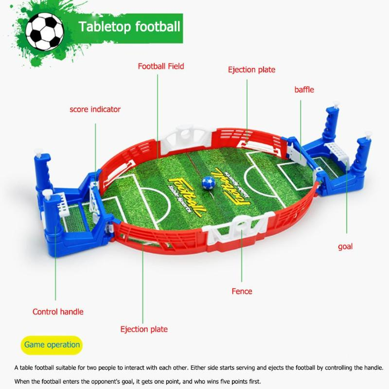 Mini Soccer Table Football Game Toys Board Training Ejection Double  Fighting Novelty Power Shot Skills Indoor Sport Toys Hot Kids Outdoor Toys