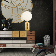 Modern Led Table Lamp Metal Milky Frosted Desk Lamp Glass Shades Reading Lamps Table Bedroom Bedside Office Decor Stand Light