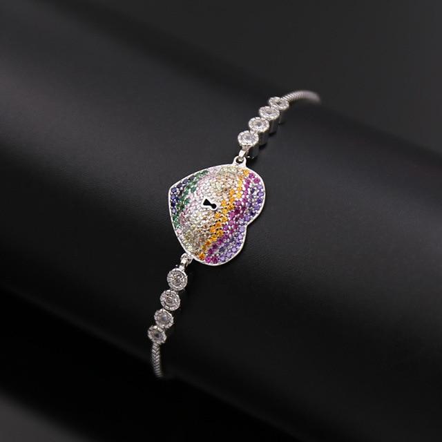 fashion jewelry gold love love bracelet Stainless Steel gold plate H bangle micro heart-shaped hole telescopic love Bracelet