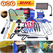 PDR Tools Hook Tools Push Rod Car Crowbar Paintless Dent Repair Tools Kits Glue Sticks Tap Down Hammer Hail Puller Set pry tools