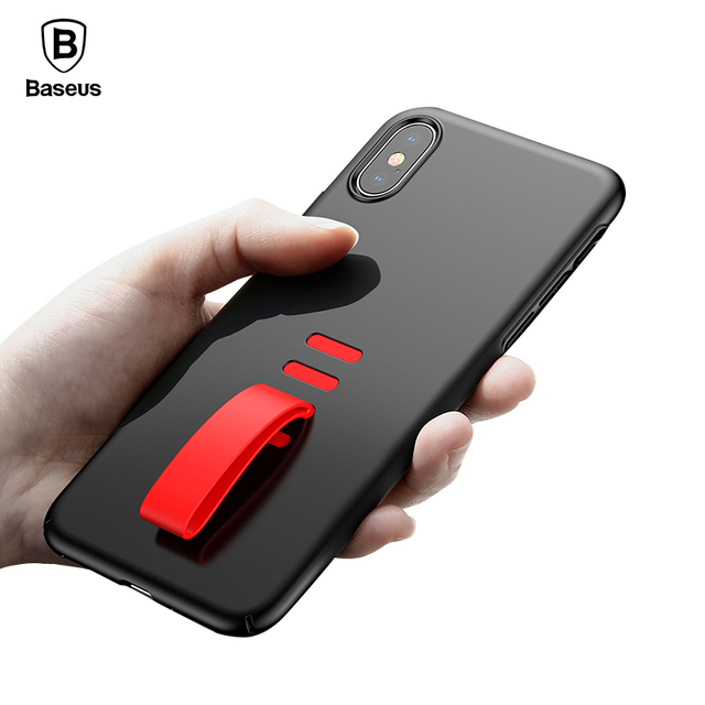 Baseus iPhone X Luxury Ultra Thin Hard PC Silicone Tail Back Case Cover