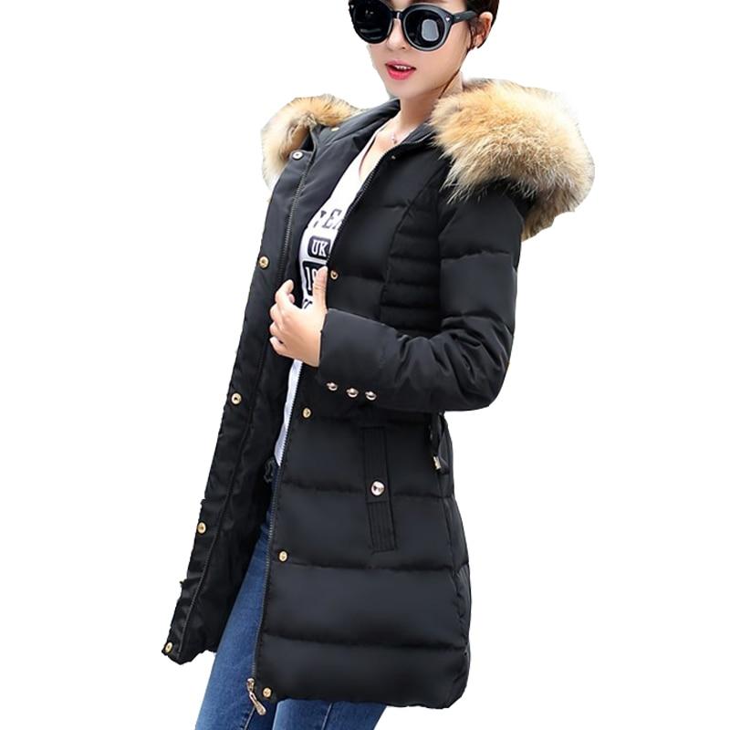 Women Winter Jackets Medium Length Style Coats White Duck Down Parkas Women 4 Colors Jackets Warm Outerwear Faux Fur Collar