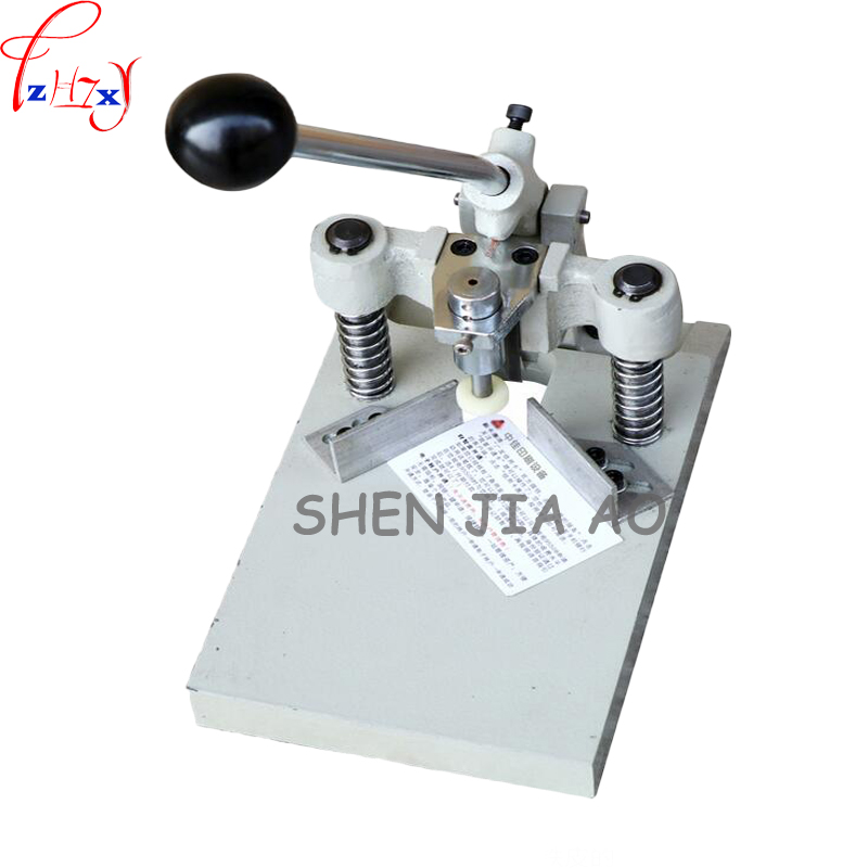 BY-03 small manual cut round machine album business card chamfering machine with pressure foot cut round machine 1pc automatic electronic driven cut card cutter to cut pvc id business card punching machine with high speed