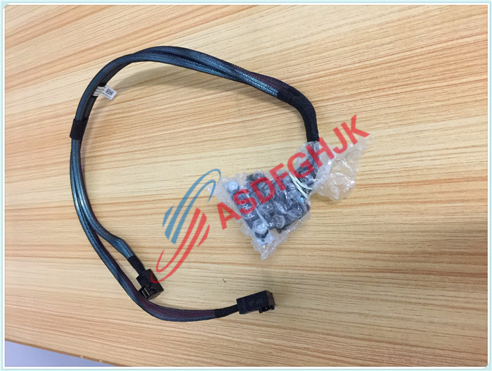 Original FOR DELL for Poweredge R430 DUAL MINI SAS HD CABLE  TWO SFF-8643 7NKWC 100% work perfectly кабель для сервера dell sas connector external cable 2м 470 11676r 470 11676r