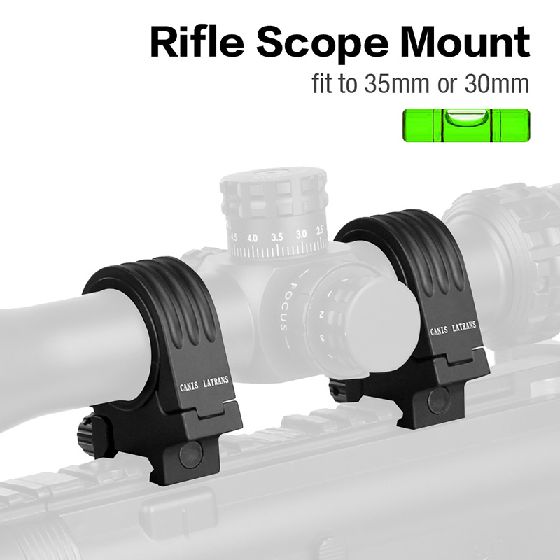 Canis Latrans Hunting Rifle Scope Mount 30 to 35mm Scope Mount with Bubble Level GZ24 0193 Scope Mounts & Accessories     - title=