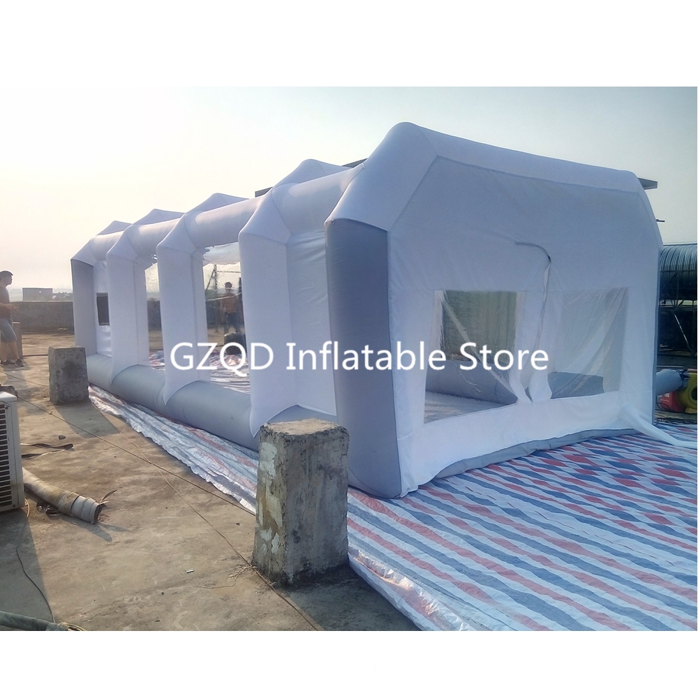 7*4*2.5m Outdoor Mobile Inflatable Car Maintaining Spray Paint Booth Portable Used Spray Booth For Sale
