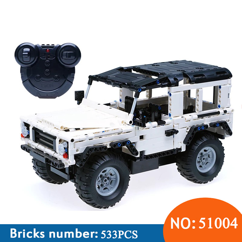 AIBOULLY C51004 Technic Series 553 PCS Defender RC Car Model SUV DIY Building Block Car Brick Toys For ChildrenAIBOULLY C51004 Technic Series 553 PCS Defender RC Car Model SUV DIY Building Block Car Brick Toys For Children