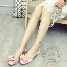 Kleine Frische komfortable Ballerinas schuhe Frauen wohnungen Knoten Seide Stoff Süße Teenager Sommer Einzelnen Schuhen