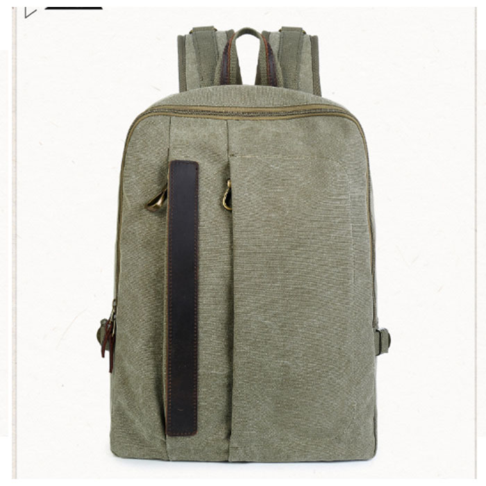 New canvas shoulder bag trend female male Backpack men's casual travel computer bag Korean student bag black/ArmyGreen korean version canvas shoulder bag backpack student bag ladies cartoon cute new child birthday gift