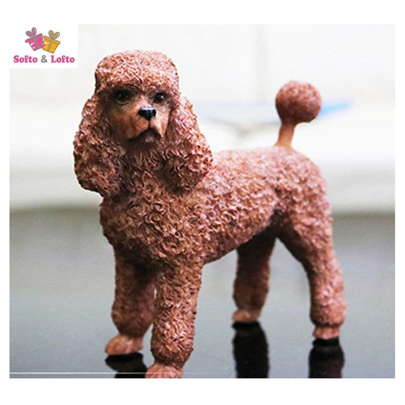 שרף מלאכותי חום צרפתית איור כלב פודל, רכב סטיילינג מאמר אוסף קישוט בית חדר חג מולד מתנת יום הולדת צעצוע