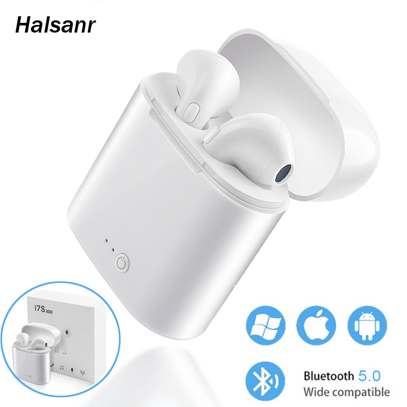 10pcs lot i7s TWS 5 0 Wireless Bluetooth Earphone Stereo Earbud Headset With Charging Box For